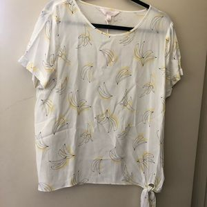 Lauren Conrad Banana Print Top